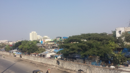 our first views of Mumbai from the train station